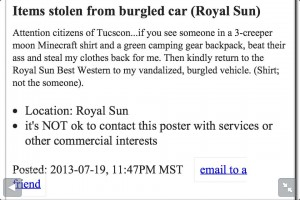 Craigslist Freaking Out!